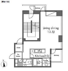 レジディアタワー麻布十番501号室