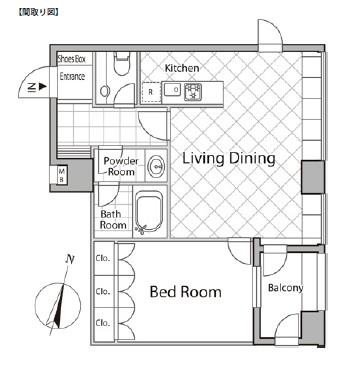 レジディアタワー麻布十番502号室
