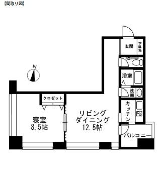 レジディアタワー麻布十番603号室