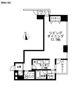 レジディアタワー麻布十番606号室