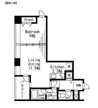 レジディアタワー麻布十番906号室
