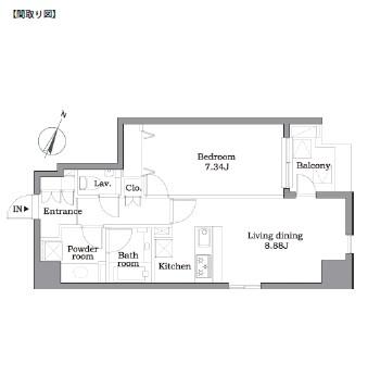 レジディア東麻布302号室