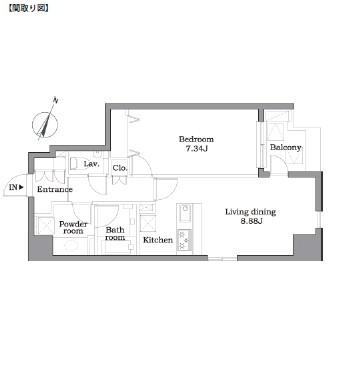 レジディア東麻布702号室