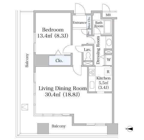 ヨコソーレインボータワーハイツ1801号室