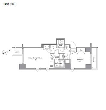 レジディア麻布台604号室