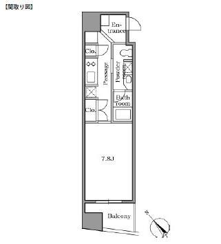 レジディア恵比寿Ⅱ1004号室