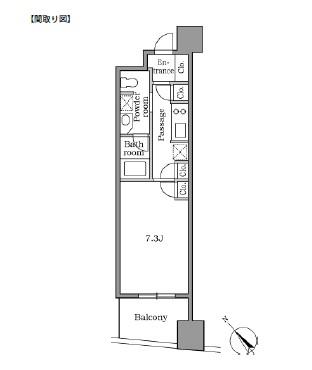 レジディア恵比寿Ⅱ1103号室