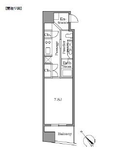 レジディア恵比寿Ⅱ204号室
