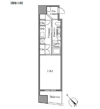 レジディア恵比寿Ⅱ904号室