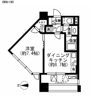 レジディア市ヶ谷1103号室