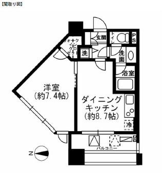 レジディア市ヶ谷1302号室