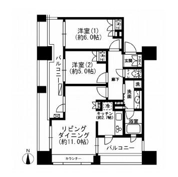 レジディア市ヶ谷1303号室