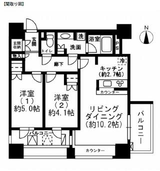 レジディア市ヶ谷1404号室