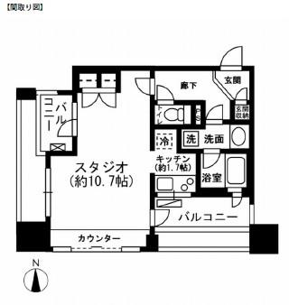 レジディア市ヶ谷207号室