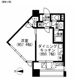 レジディア市ヶ谷505号室