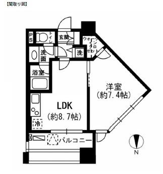 レジディア市ヶ谷604号室