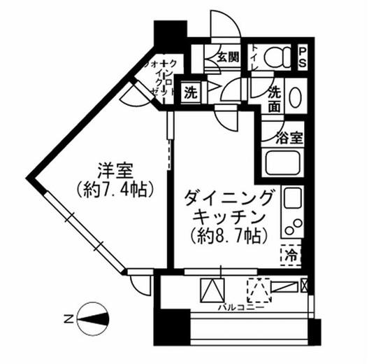 レジディア市ヶ谷605号室