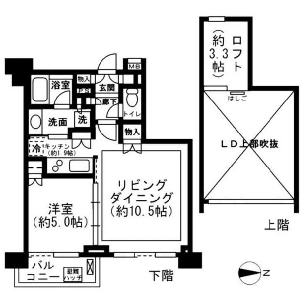 レジディア新宿イーストⅡ1003号室