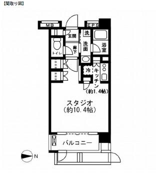 レジディア新宿イーストⅡ101号室
