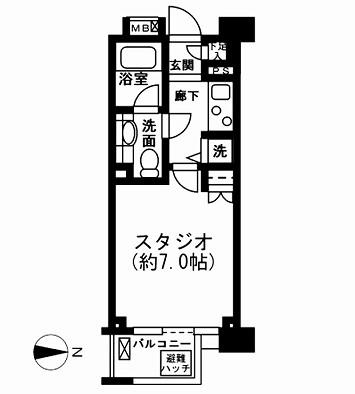 レジディア新宿イーストⅡ507号室