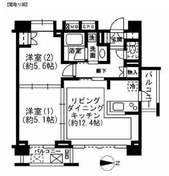 レジディア新宿イーストⅡ601号室