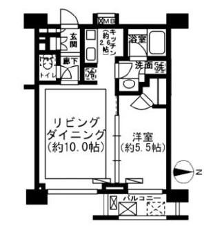 レジディア新宿イーストⅡ602号室