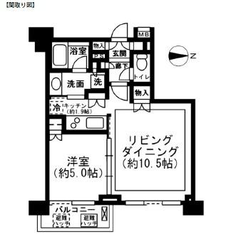 レジディア新宿イーストⅡ803号室
