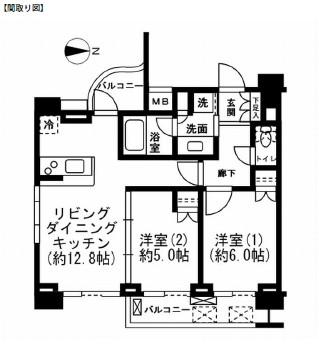 レジディア新宿イーストⅡ804号室