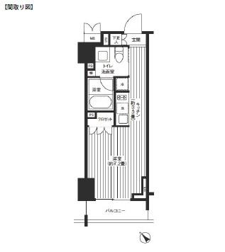 レジディア渋谷303号室