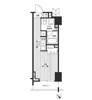 レジディア渋谷502号室