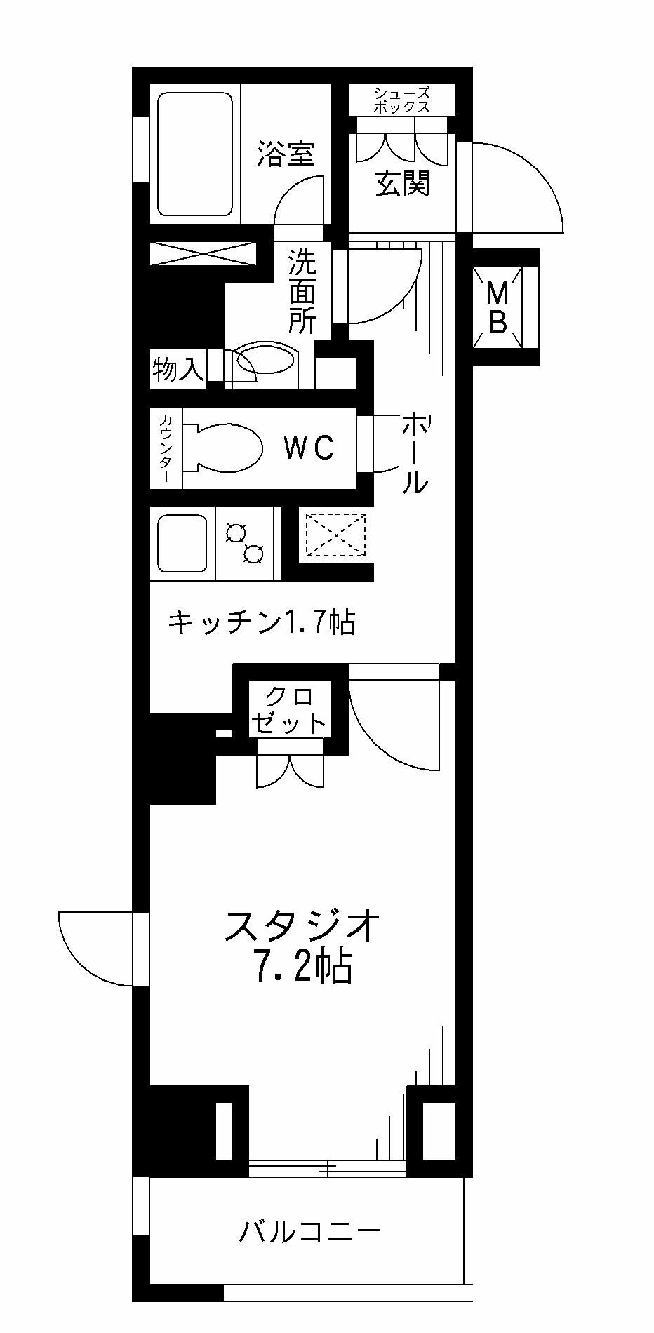 レジディア九段下206号室