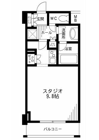 レジディア九段下903号室