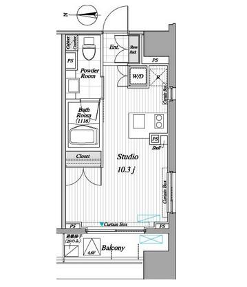 レジディア錦糸町Ⅱ204号室