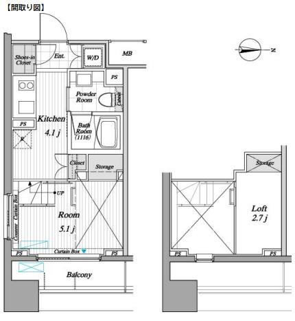 レジディア錦糸町Ⅱ205号室