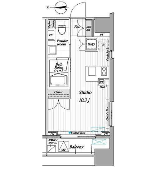 レジディア錦糸町Ⅱ705号室