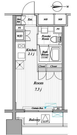 レジディア錦糸町Ⅱ709号室
