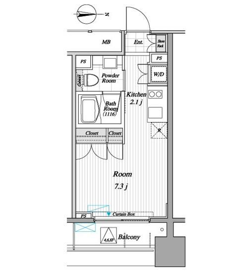 レジディア錦糸町Ⅱ807号室