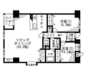 レジディア六本木檜町公園205号室