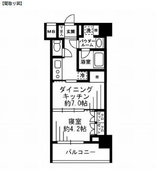 レジディア池尻大橋1202号室
