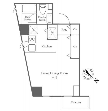 レジディア代々木の杜203号室