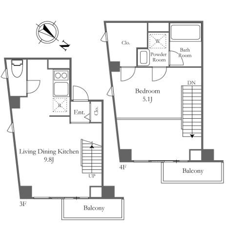 レジディア代々木の杜304号室