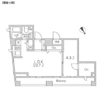 レジディア代々木の杜603号室