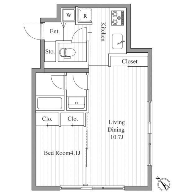 レジディア南青山201号室