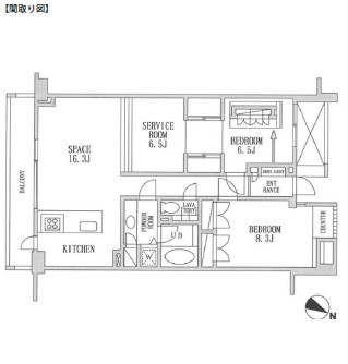 レジディア北新宿404号室