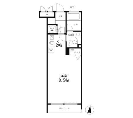 レジディア笹塚203号室