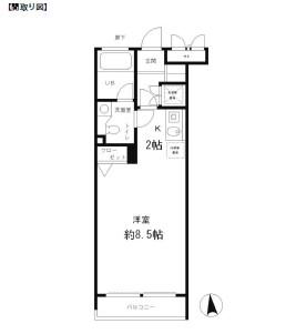 レジディア笹塚406号室