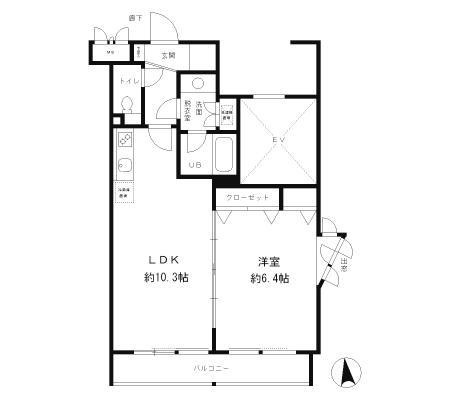 レジディア笹塚501号室