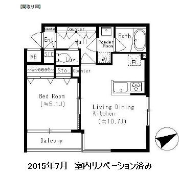 レジディア笹塚512号室
