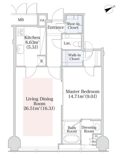 プラティーヌ西新宿1307号室