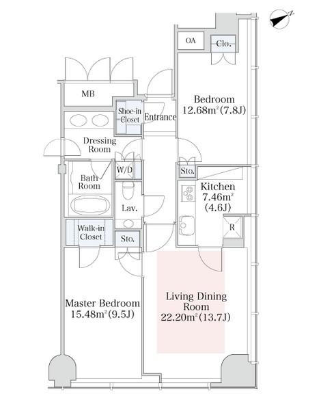 プラティーヌ西新宿1408号室